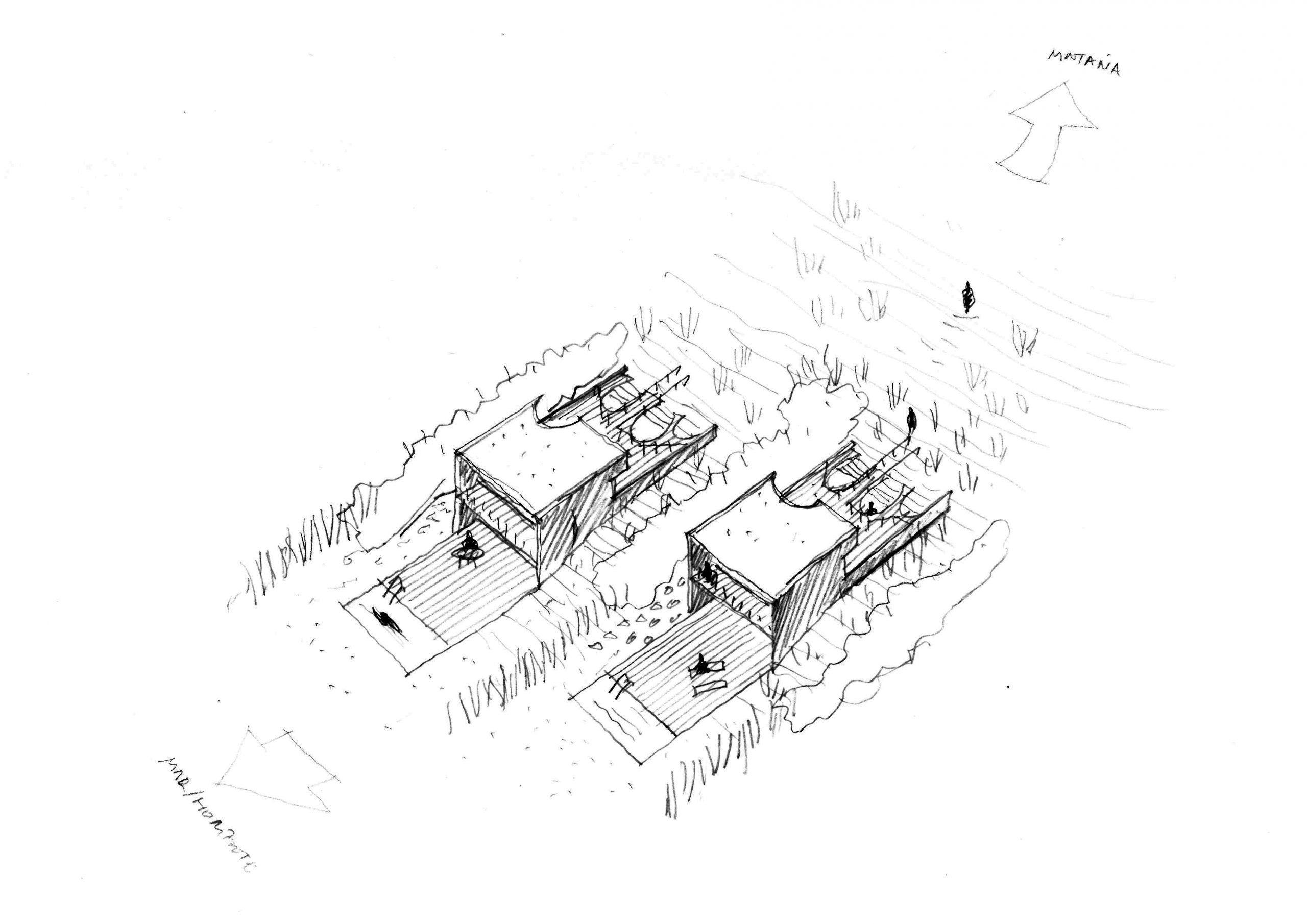 3 Horizonte y casas asentadas en una ladera sur