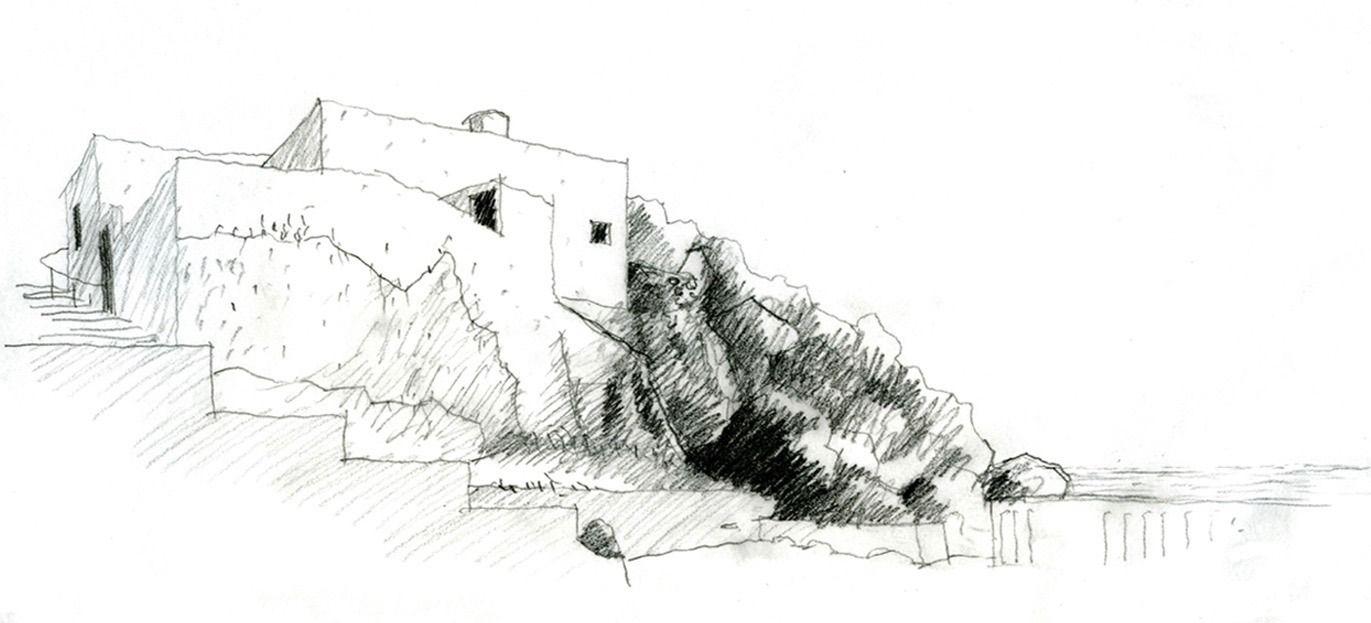 8-1 Pequeña casa sobre una roca - excepción construida